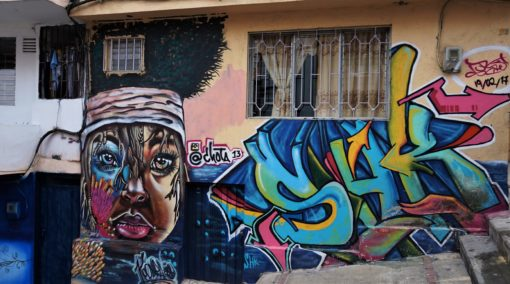 Street art by our guide's favourite artist @chota13 in Medellin