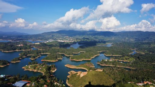 View from the top of The Rock in Guatape, Colombia