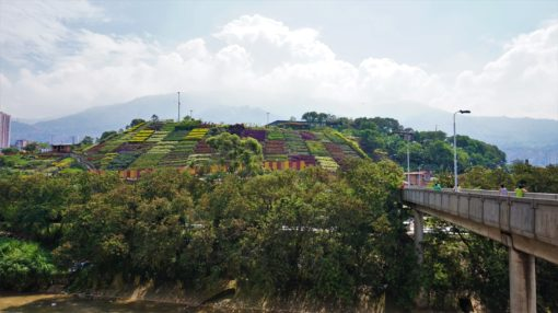 Moravia's trash dump is now a flower-covered hill, Medellin
