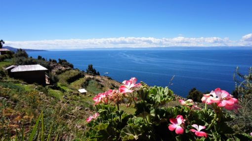 Beautiful views over Lake Titicaca from Taquile Island