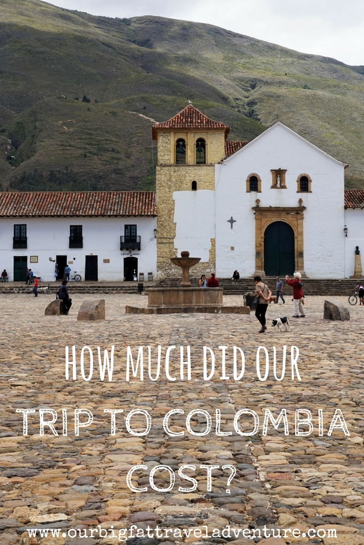 how much did our trip to colombia cost? Pinterest pin