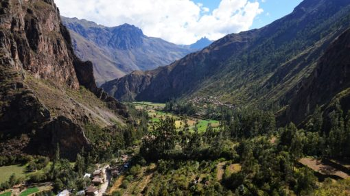 View overlooking the Sacred Valley in Peru