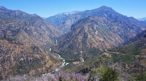 View overlooking Kings Canyon National Park in California, USA