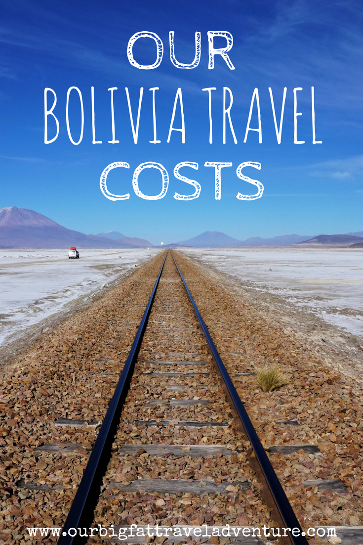 our bolivia travel costs, pinterest pin