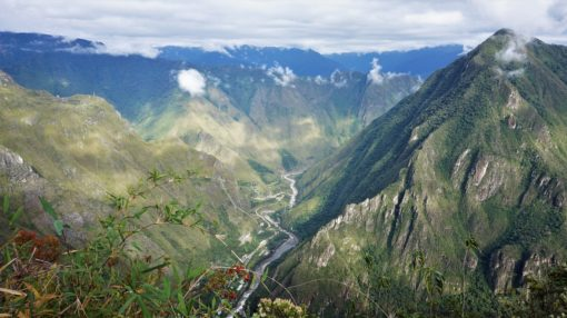 The beautiful Andes mountain range in Peru