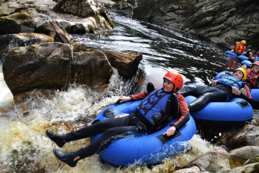 Tubing in Scotland with ACE Adventures