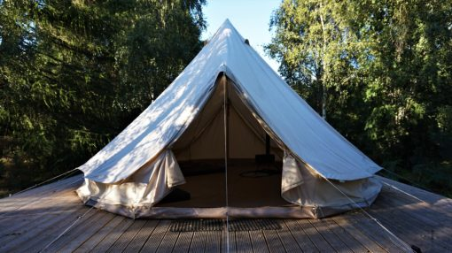 Bell tents at ACE Adventures in Scotland