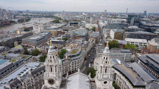 View from the Golden Gallery of St Paul's Cathedral, overlooking London