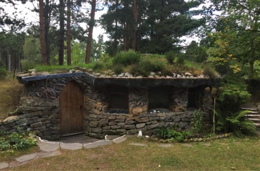 Hobbit-style eco house at the Findhorn Foundation in Scotland
