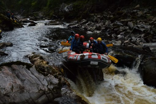 White water rafting on the Findhorn, Scotland