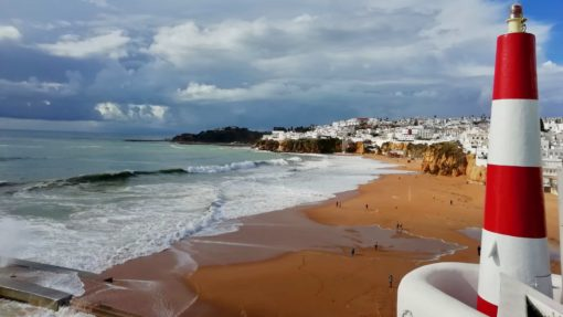 View of Albufeira from the clifftop