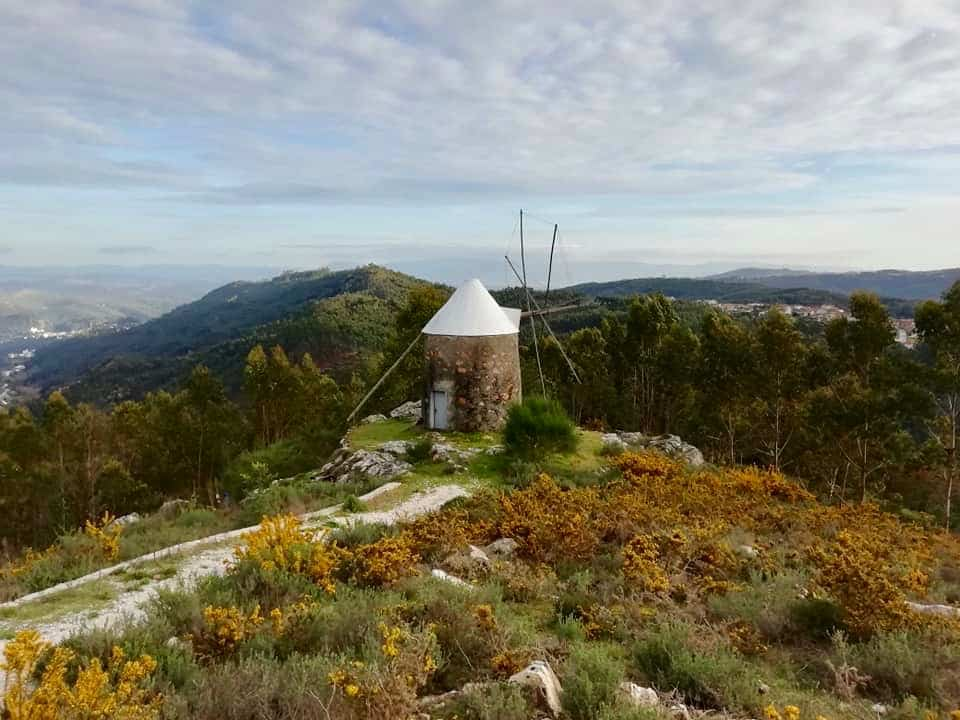 Old windmill on the hill near Penacova in Central Portugal