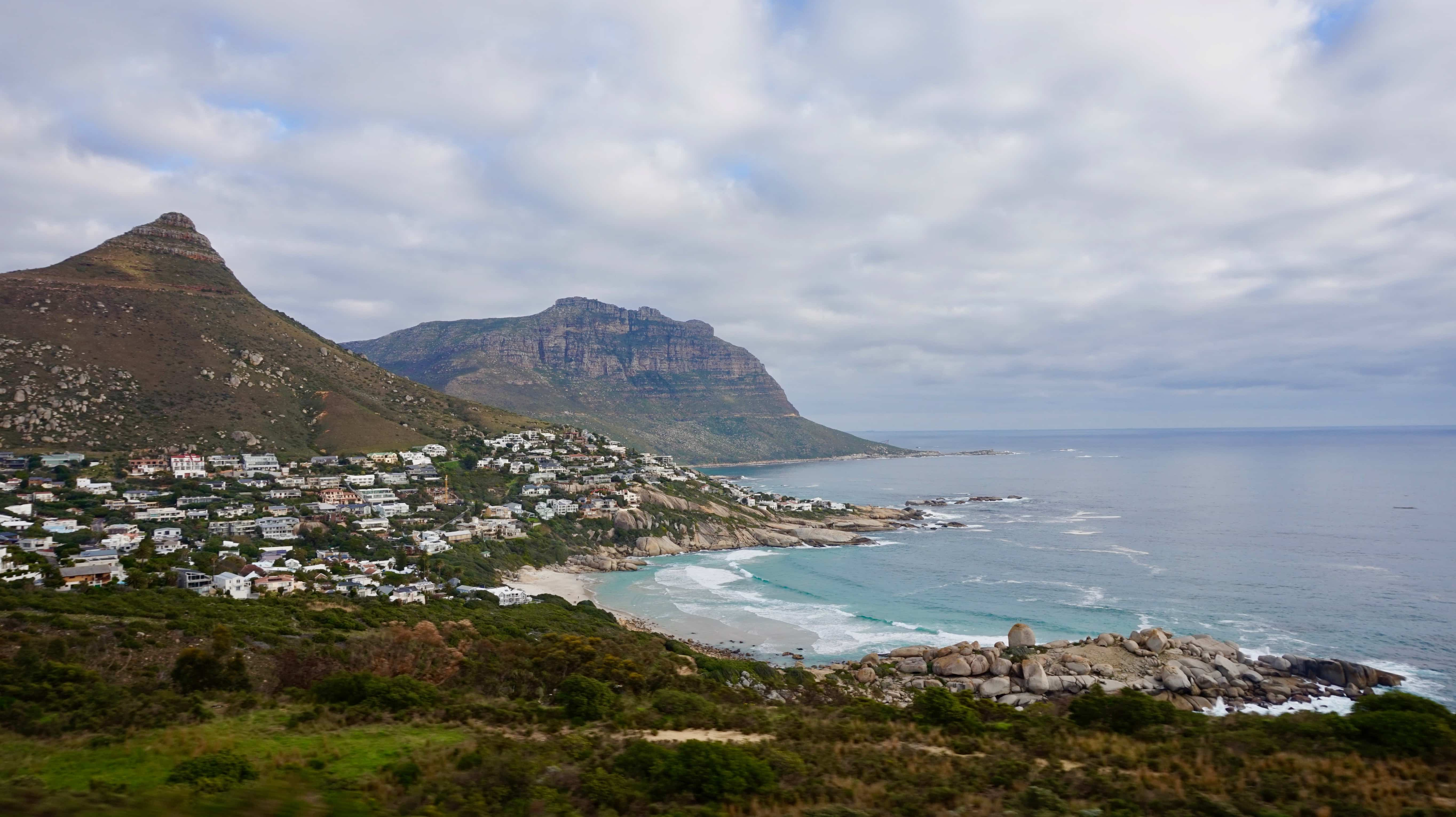 View of Lion's Head and the 12 Apostles Mountain Range in Cape Town