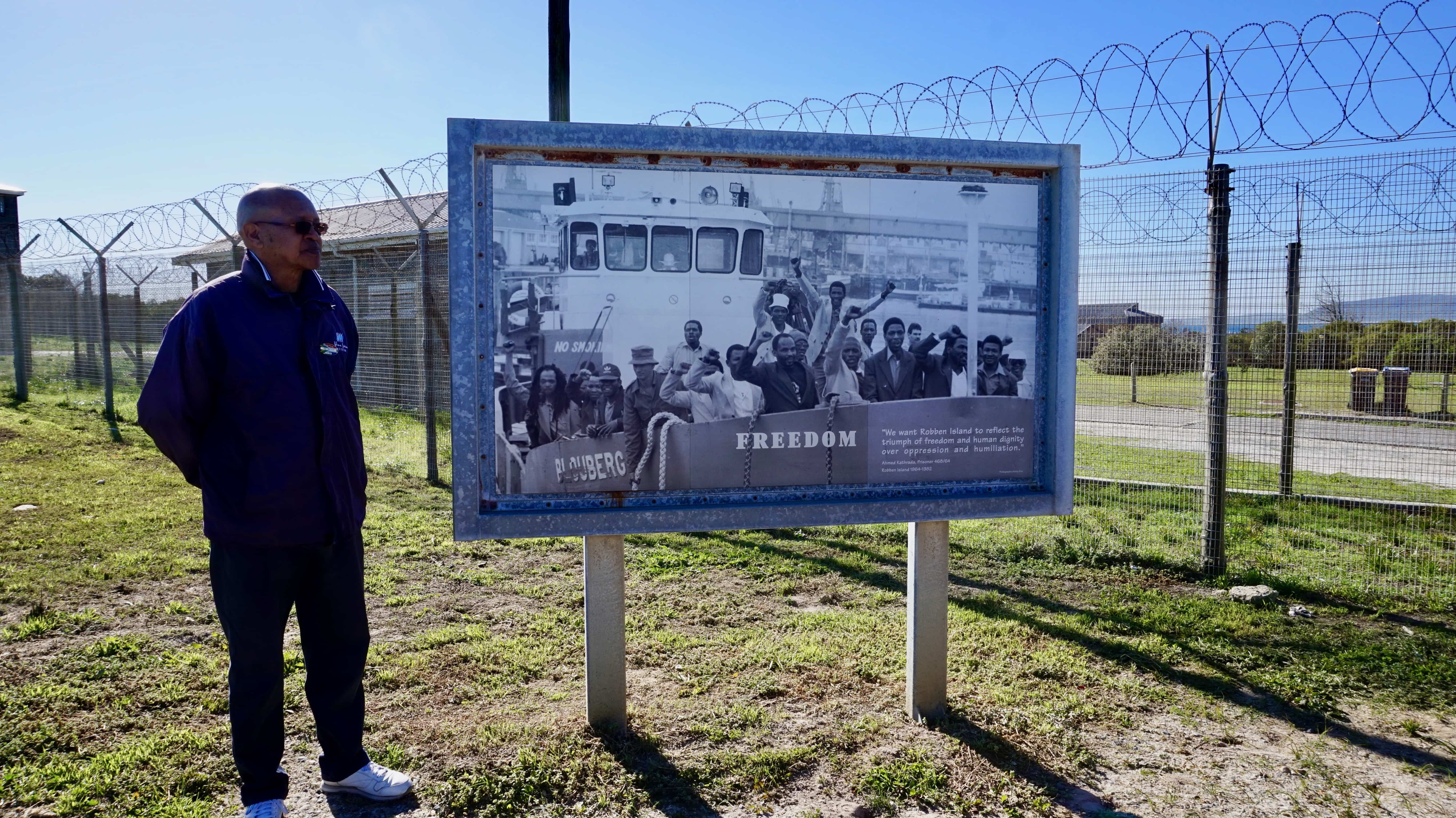 Tour guide at the Robben Island prison, Cape Town