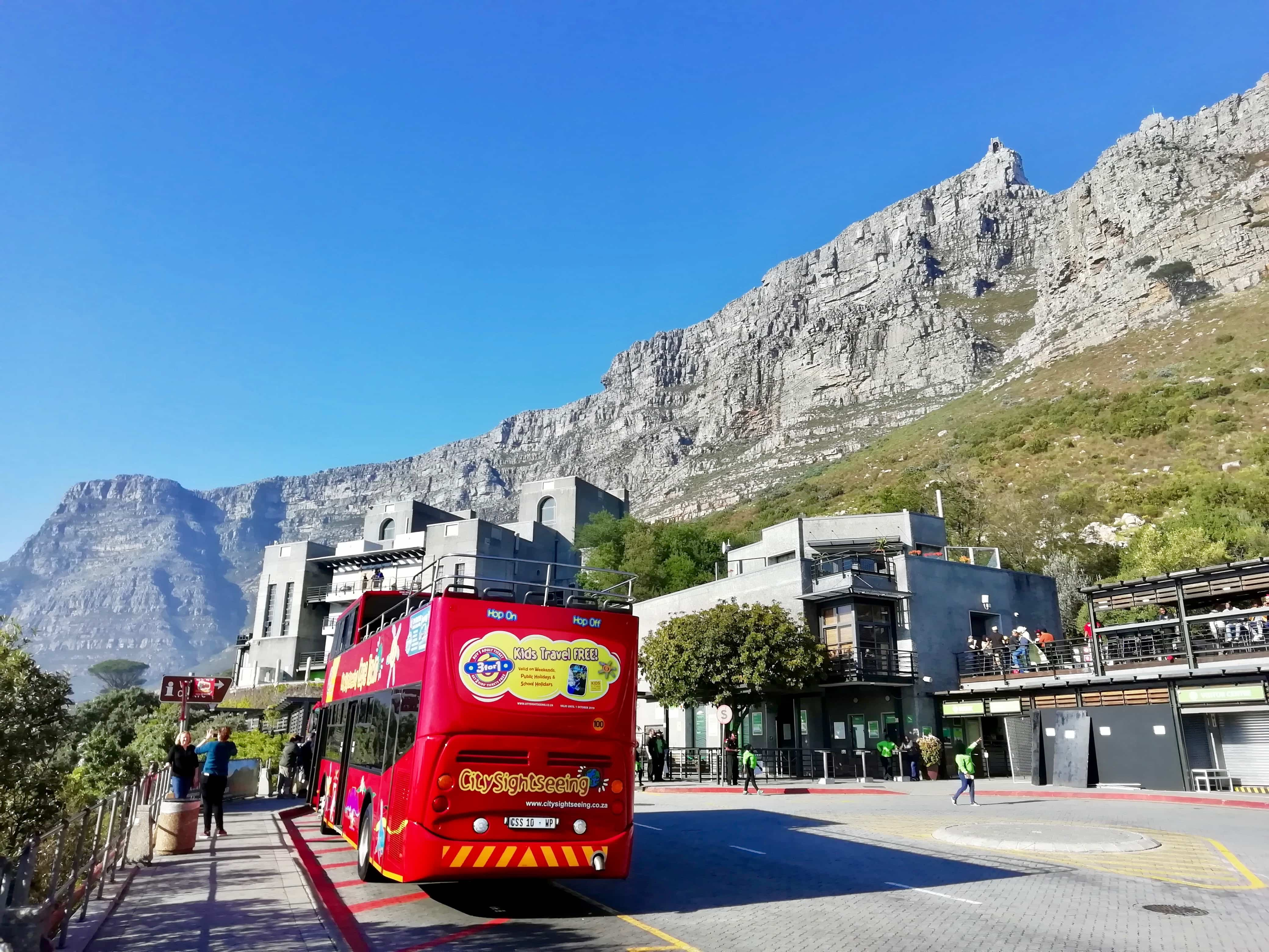 City Sightseeing Hop on Hop off bus tour in Cape Town