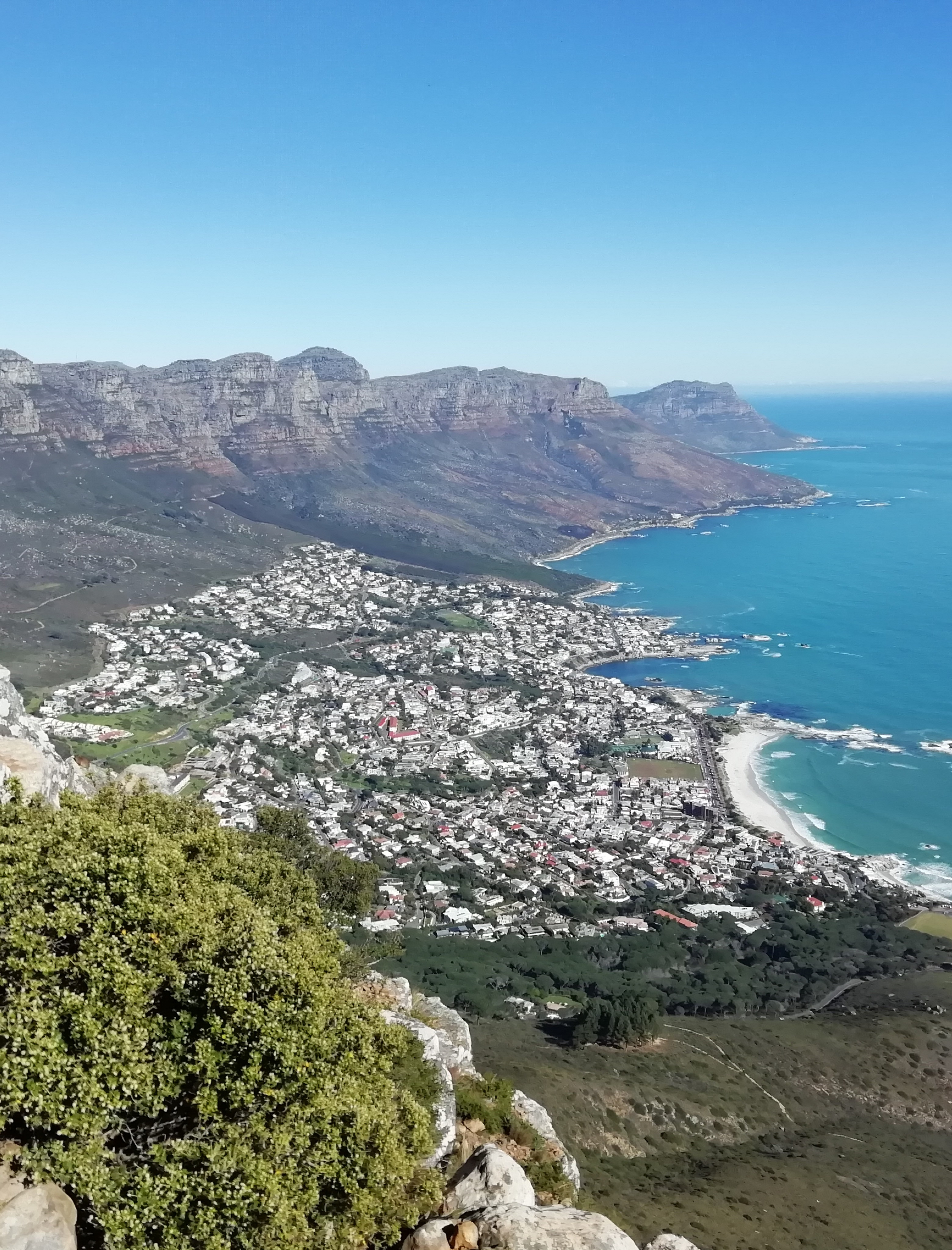 View over Camps Bay from Lion's Head, Cape Town, South Africa