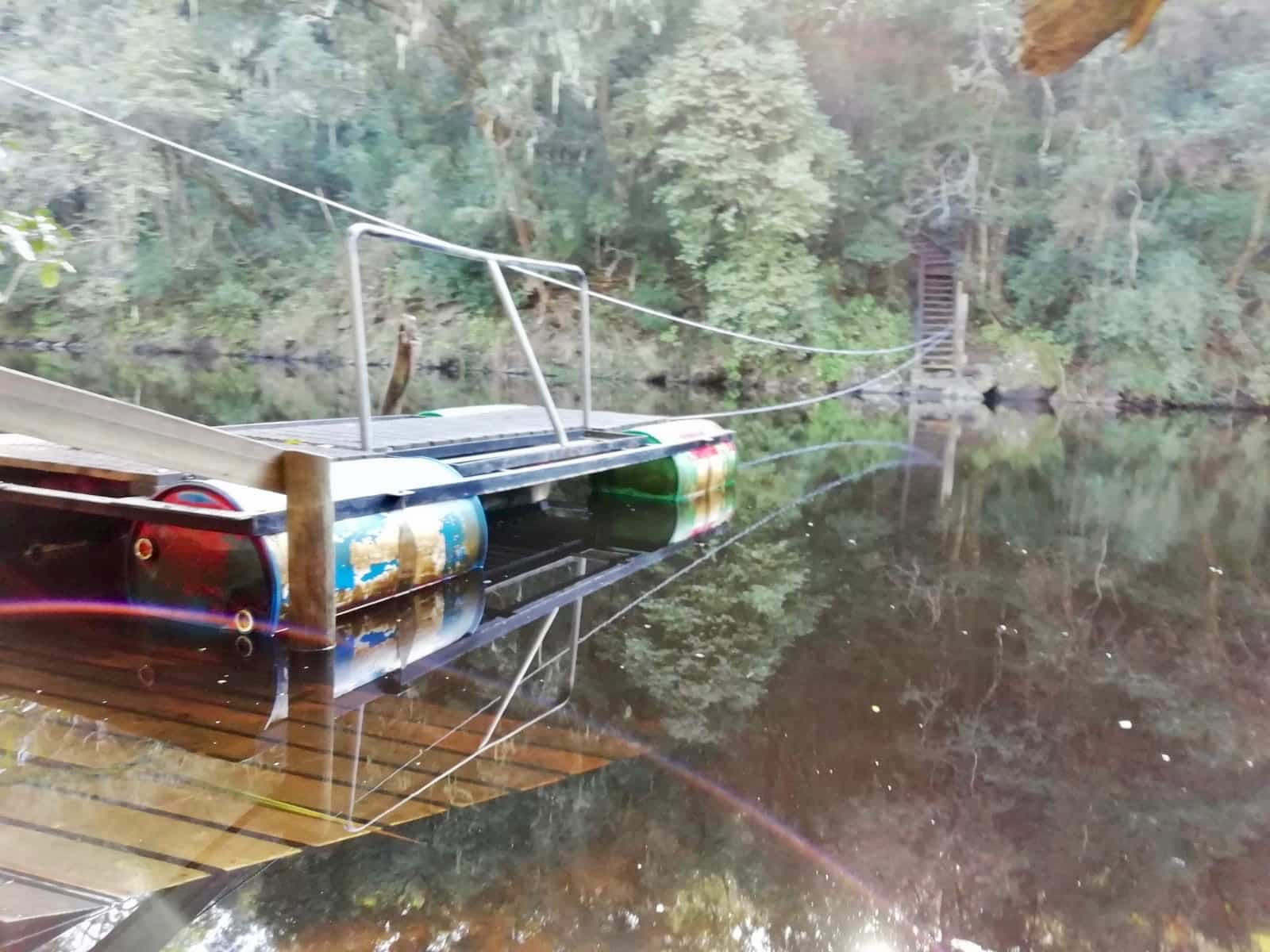 Pontoon on the Kingfisher Trail on South Africa's Garden Route