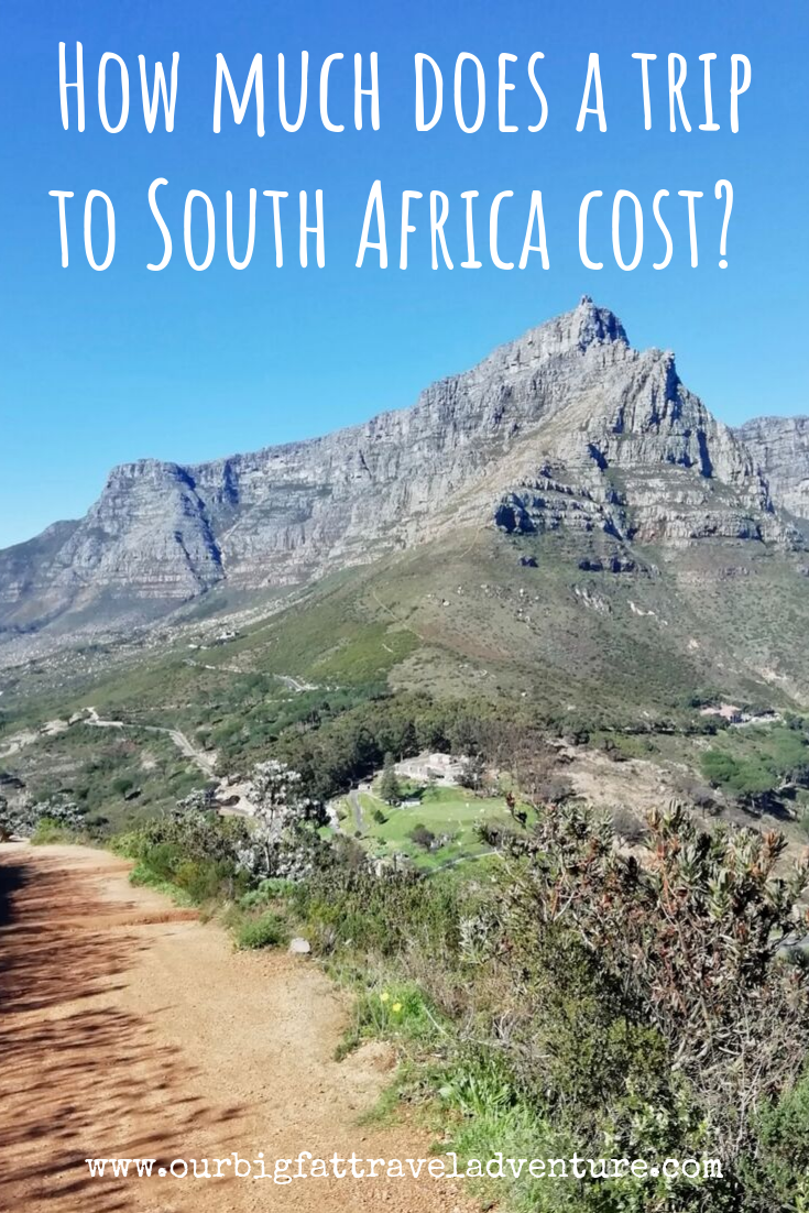 How much does a trip to South Africa cost? Pinterest pin