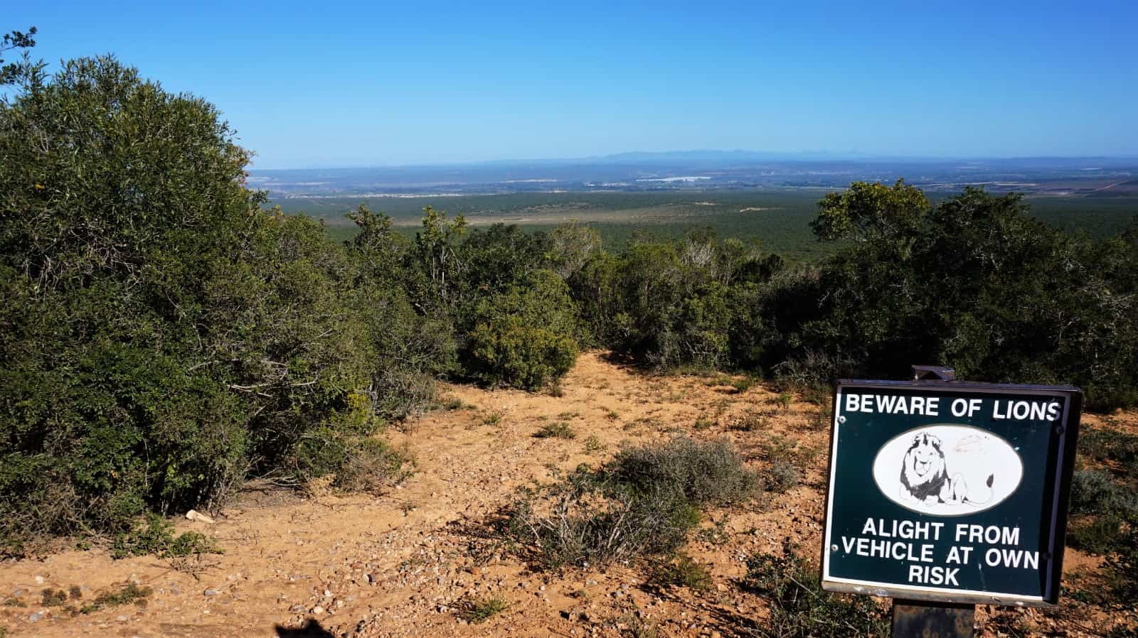 Lookout point at Addo Elephant National Park, South Africa