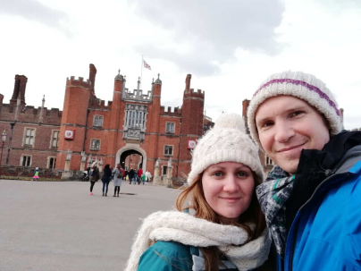 Us at Hampton Court Palace, London