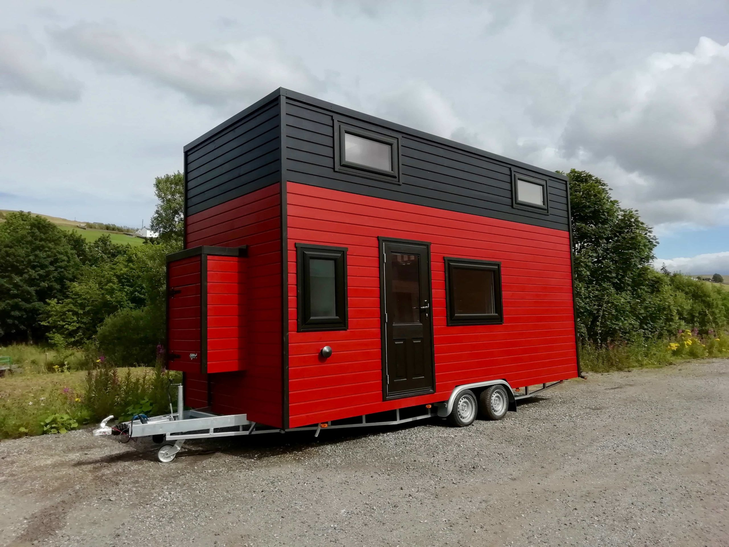 Tiny Eco House being built in Yorkshire